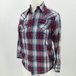 Cody James Western Pearl Snap Front Shirt Size S